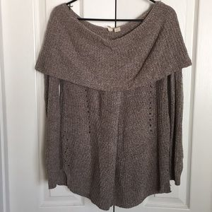MOTH by ANTHROPOLOGIE Lucerne Taupe sweater